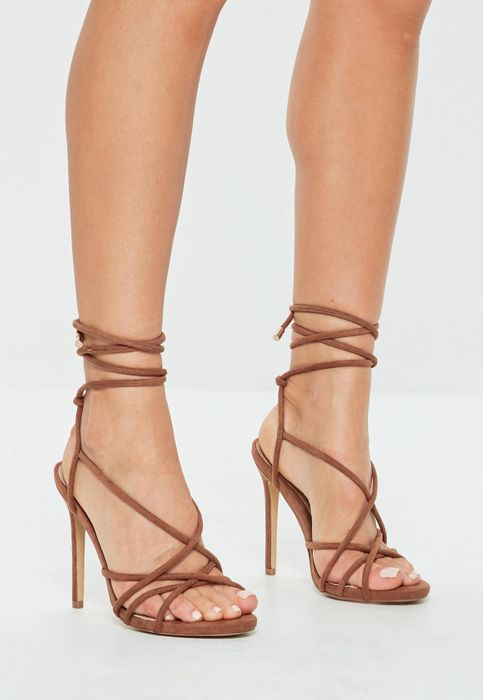 Missguided - Tan Tie up Gladiator Sandal