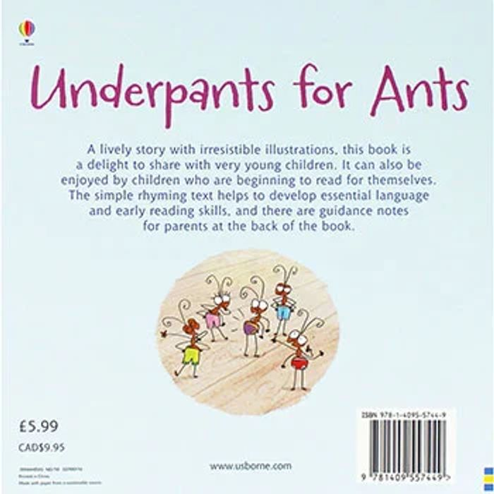 Underpants for Ants - Usborne Phonics Readers
