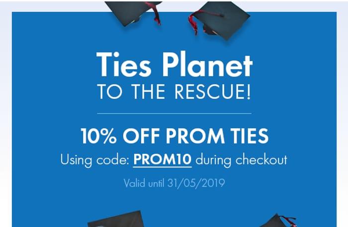 10% off Prom Ties