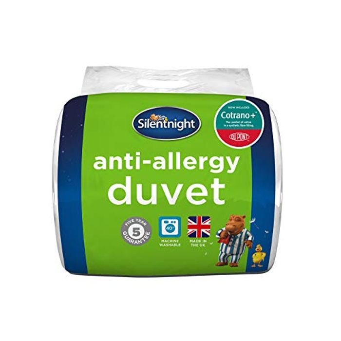Silentnight Anti-Allergy with Du Pont 10.5 Tog Duvet, Single, White