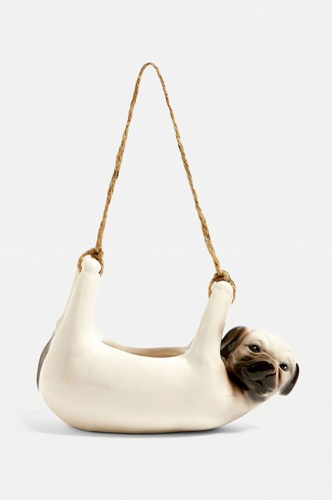 Pug Hanging Planter