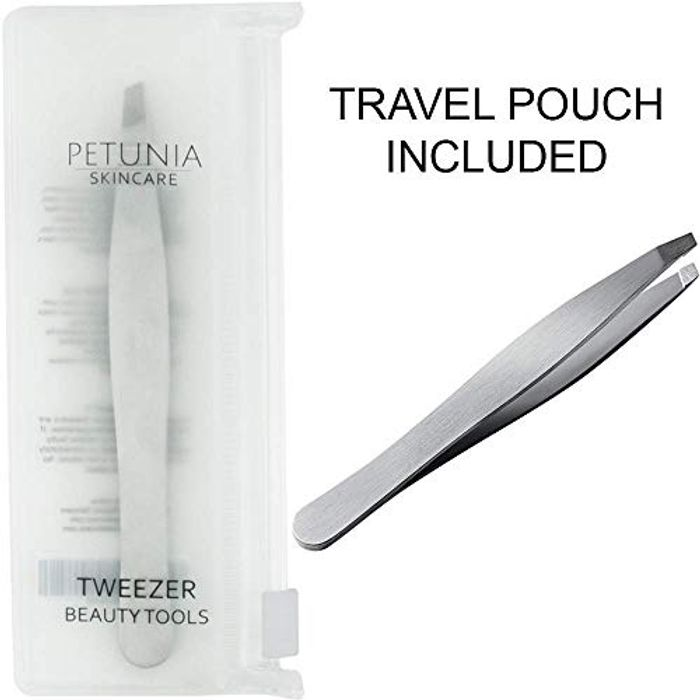 Eyebrow Tweezers Made with Stainless Steel Slant Tip (90%off)