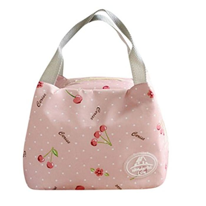 Thermal Insulated Canvas Stripe Lunch Bag + 99p Delivery
