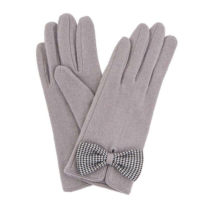 Powder Violet Wool Gloves in Slate