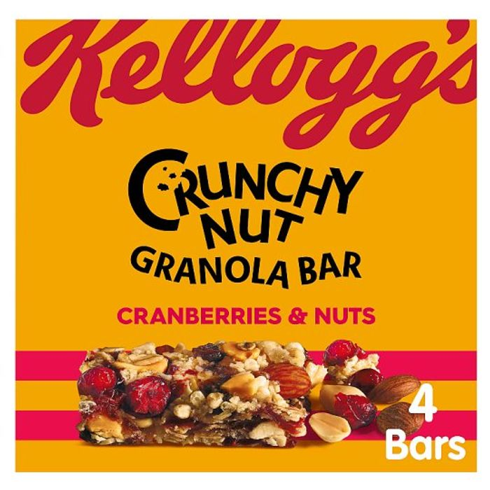 Kellogg's 4 Crunchy Nut Granola Bar - Cashback via CheckoutSmart