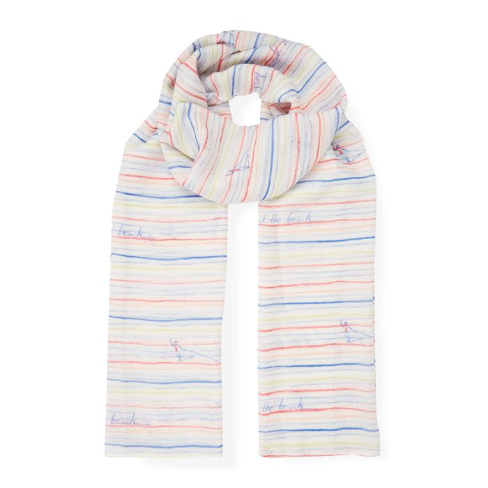 Laura Ashley Sea You Crayon Stripe Scarf - Save £12