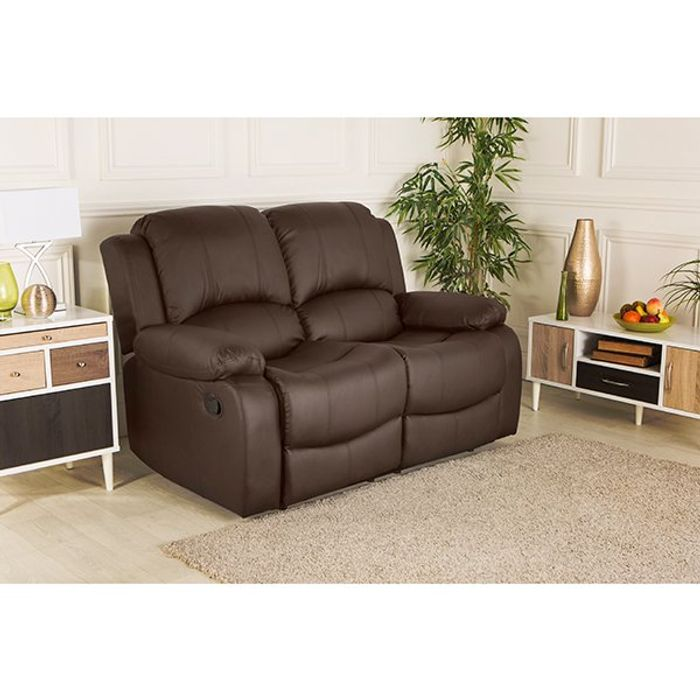 £400 off Chicago Bonded Leather Two Seater Recliner Sofa
