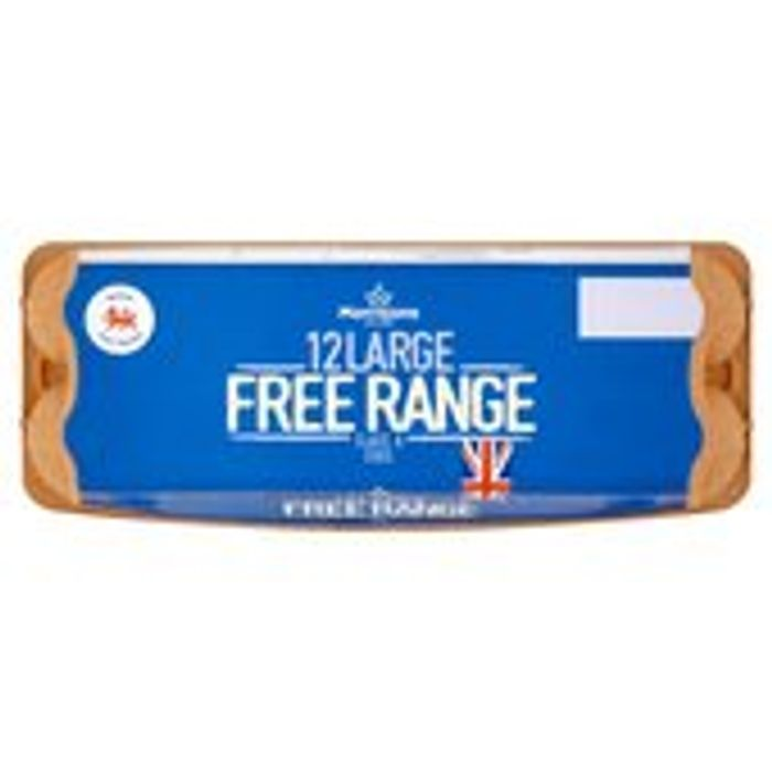 Morrisons Free Range Eggs Large 12 per Pack