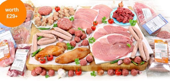 Buy a £68 Meat Hamper for £39 AND get another for £1!
