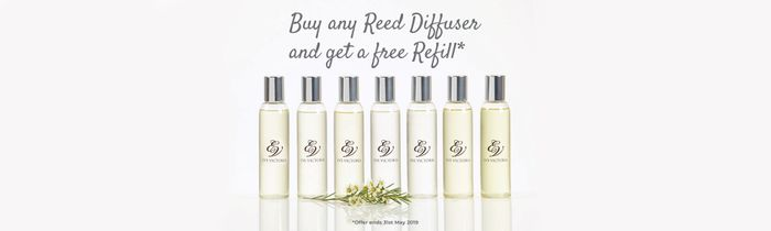 Buy Any Reed Diffuser and Get Any Refill Free