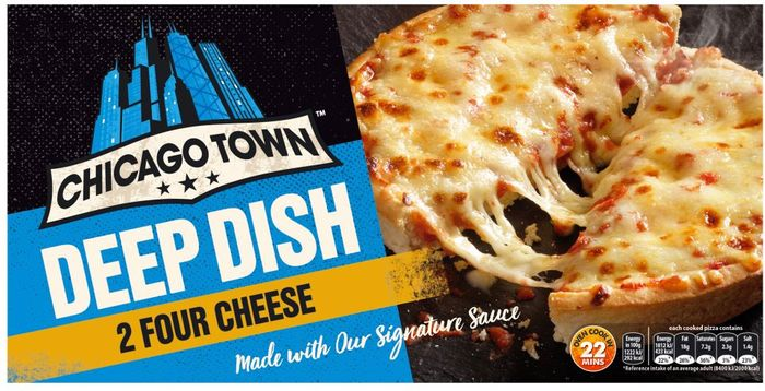 Chicago Town 2 Deep Dish Four Cheese Pizzas 2x155g 1 At
