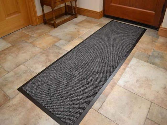 Grey Non Slip Hard Wearing Barrier Mat. (60cm x 120cm)