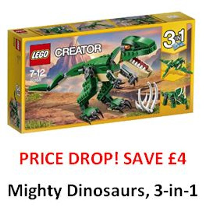 PRICE DROP! SAVE £4. LEGO Mighty Dinosaurs , 3-in-1. ***4.8 STARS***