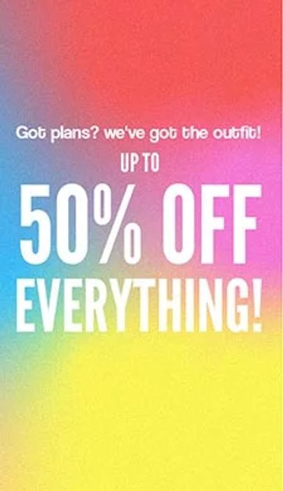 Up to 50% off Everything at BooHoo
