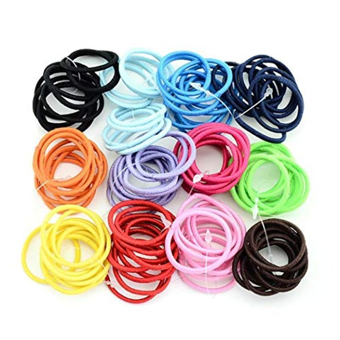 100 Stretchy Elasticated Hair Bands