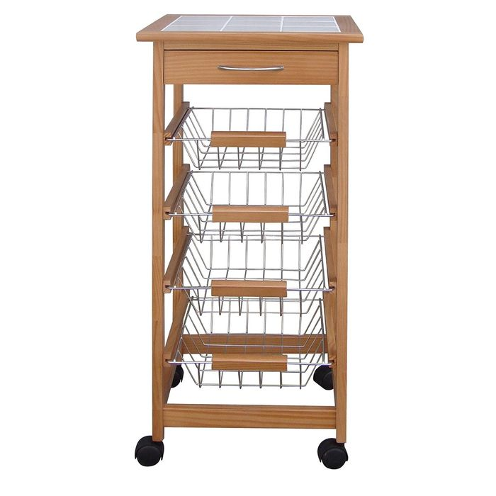Kitchen Trolley with Ceramic Top - Save £30 ( Less than Half Price )