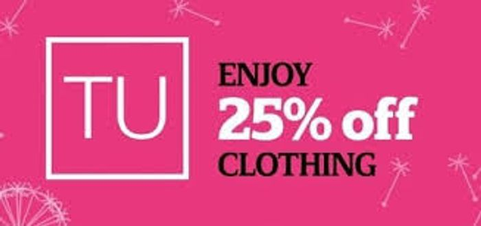 Sainsbury's Tu Clothing Sale - 25% Off Online Now! (Free C&C)