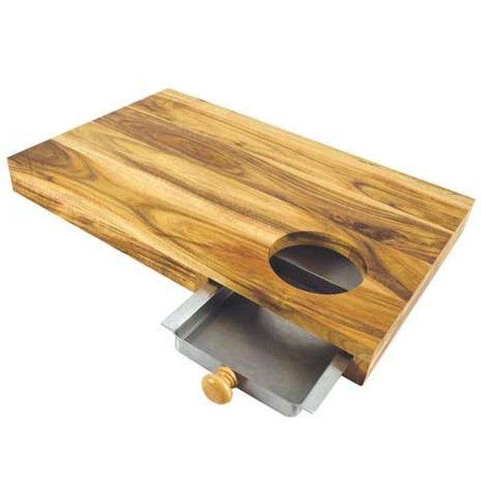 *HALF PRICE* Acacia Chopping Board with Drawer FREE C&C
