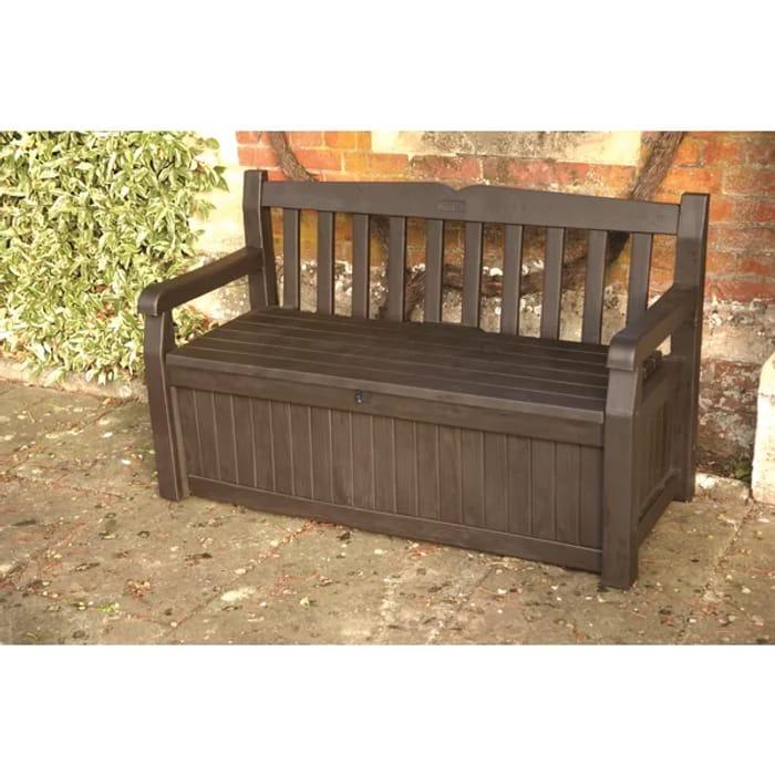 Surprising Sabrina Plastic Bench With Storage 108 99 At Wayfair Uk Inzonedesignstudio Interior Chair Design Inzonedesignstudiocom