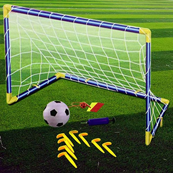 Childrens Football Goal Post Toy. Indoor/Outdoor Soccer (Single)