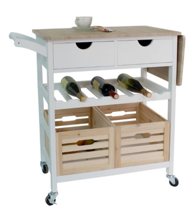 Astonishing Kitchen Trolley With Extendable Fold Down Benchtop 39 93 Complete Home Design Collection Barbaintelli Responsecom