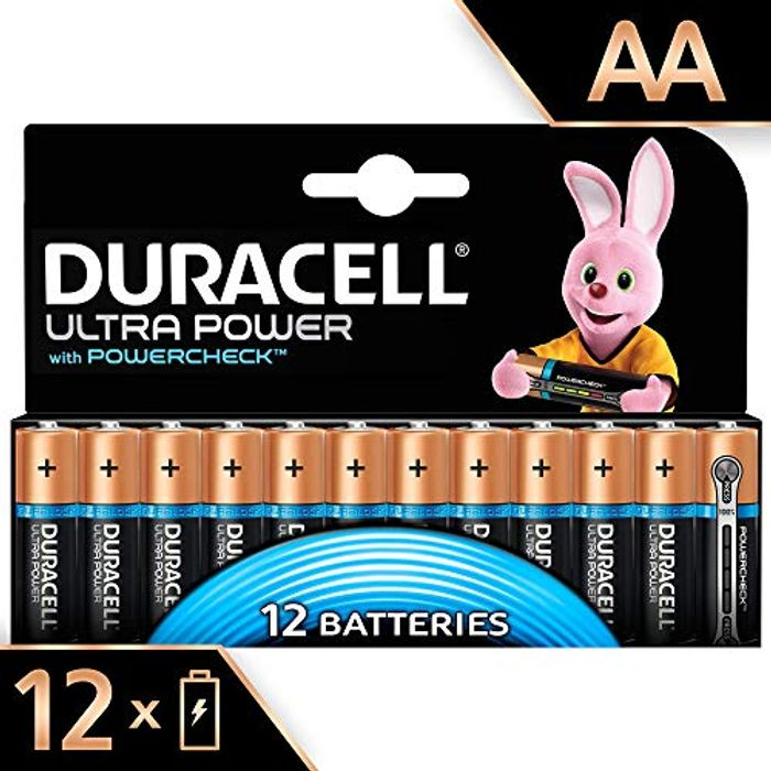ALMOST 1/2 PRICE: Duracell Ultra Power Type AA Alkaline Batteries, Pack of 12