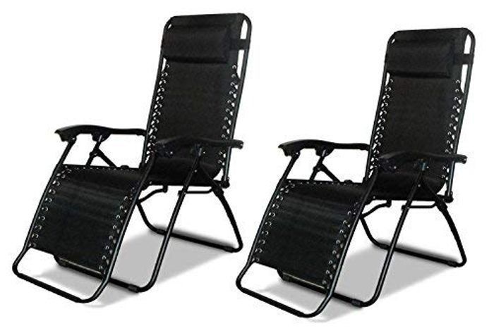 2 X DNY Textoline Reclining Garden Chairs Save £30.00