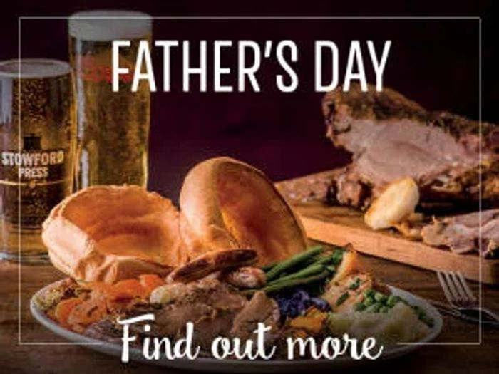 FREE Meal for Dad on Fathers Day at Toby Carvery
