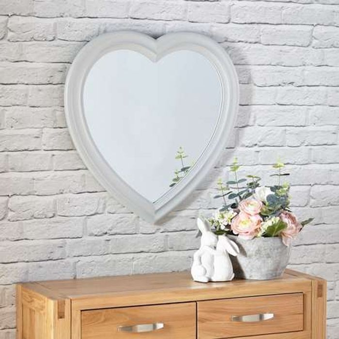 Heart Shaped Mirror At Dunelm Only 24 Latestdeals Co Uk