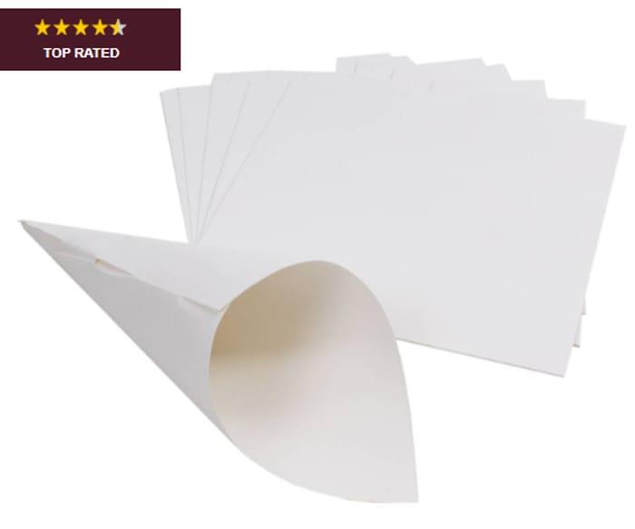 White Confetti Cones 10 Pack