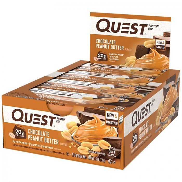 CASE PRICE Quest Bar Oatmeal Chocolate Chip Flavour Protein Bar 60g X 12