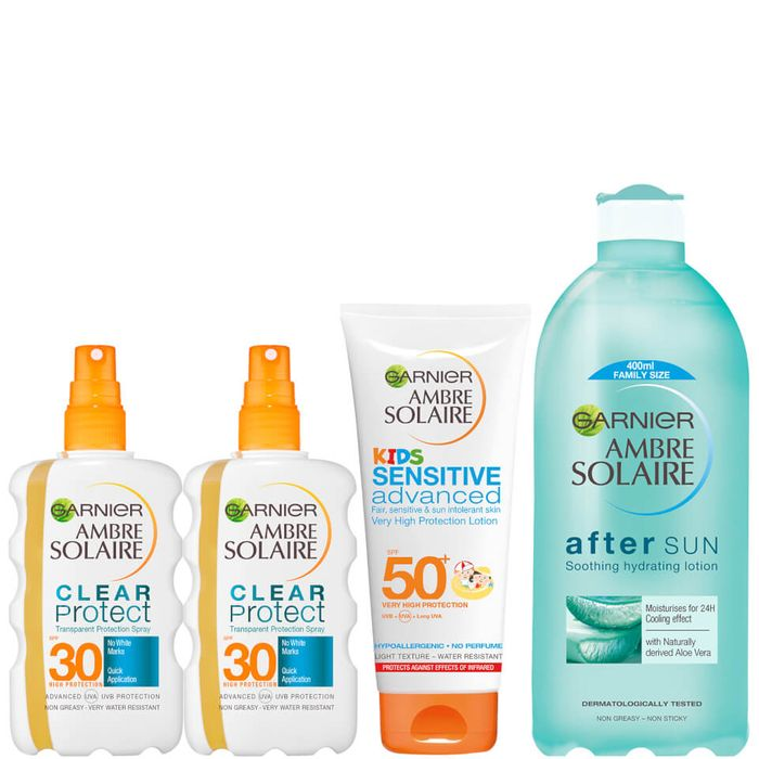 Ambre Solaire Family Sun Cream and Aftersun Pack SPF 30 and SPF 50 HALF PRICE