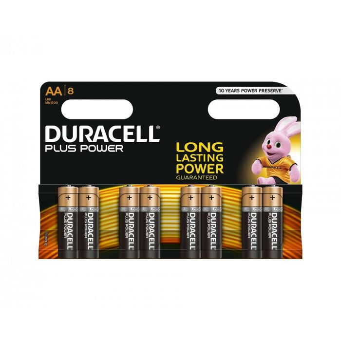 2 for £8. Duracell Duralock plus Power AA Pack of 8