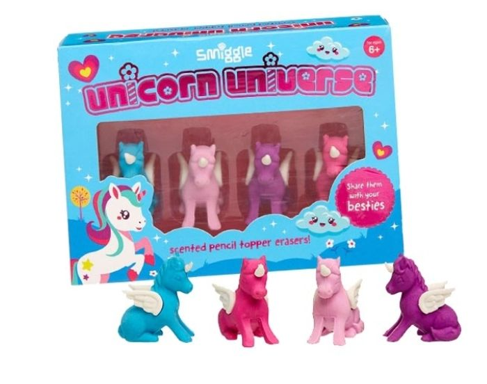 ERASE IT! Smiggle Unicorn Eraser Box