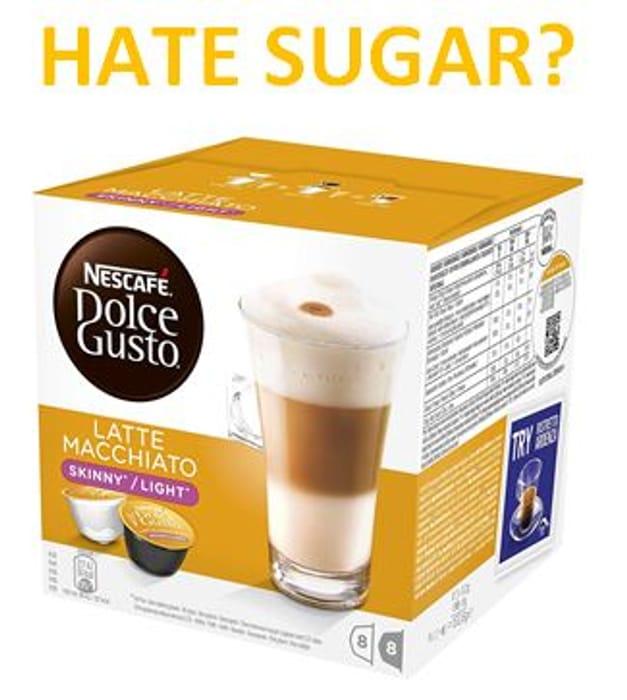 HATE SUGAR IN YOUR COFFEE? DOLCE GUSTO Skinny Latte Macchiato (PRIME DEAL)