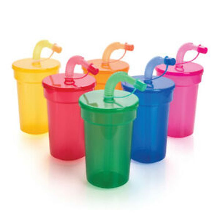 Look at These Cute Cups with Straws - Free Delivery