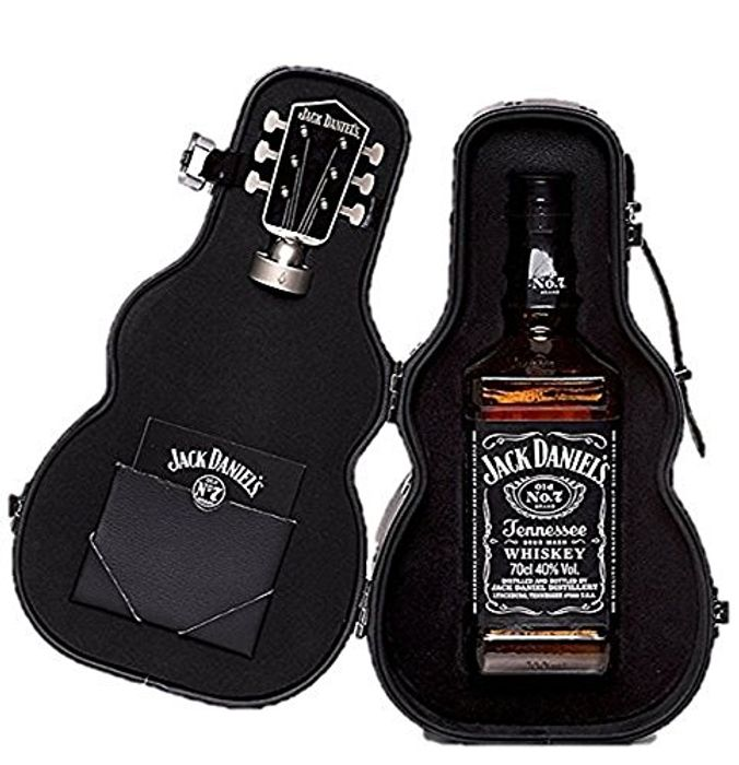 Jack Daniel's Old No.7 Guitar Case Whisky Fathers Day Gift Pack, 70 Cl