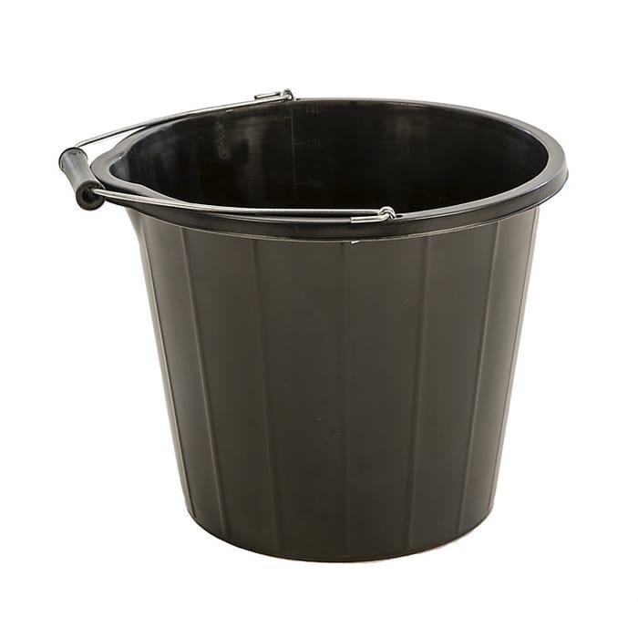 CHEAP PRICE! Proplas Black Plastic 14L Bucket