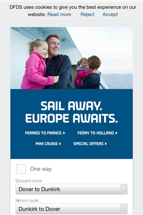 Newcastle to Amsterdam Bookings from £55pp at DFDS Seaways