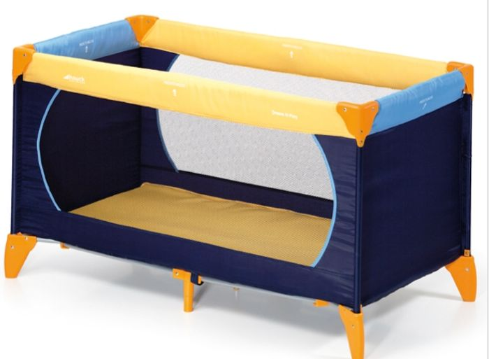 Best Price Hauck Deluxe Dream N Play Travel Cot / Baby Playpen - Blue / Yellow