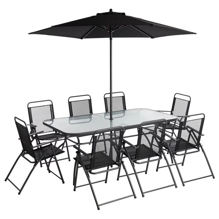 Rectangle Garden Dining Set 10 Piece