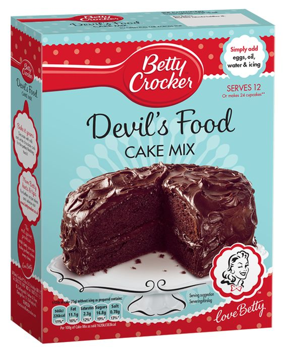 Betty Crocker - Devils Food Chocolate Cake Mix