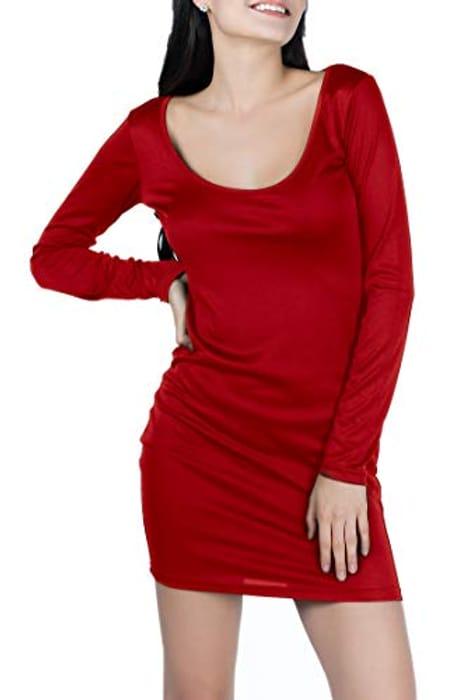 MEGA DEAL - Women's Red Long Sleeve Dress - Only £1.99!