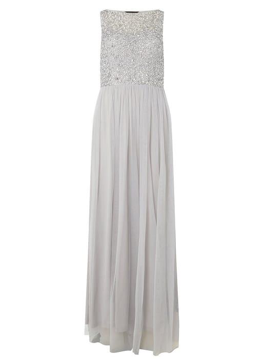 Showcase Harper Grey Sequin Maxi Dress