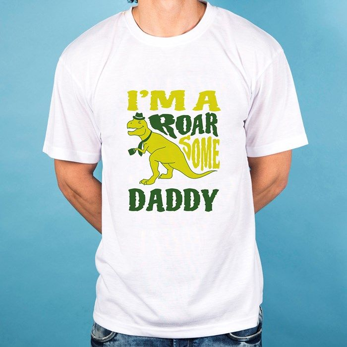 Personalised White T-Shirt - I'm Roarsome Xtra 10% off with Code
