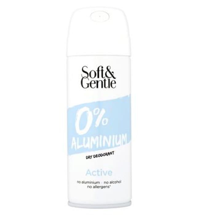 Soft & Gentle 0% Aluminum Dry Deodorant Active 150ml