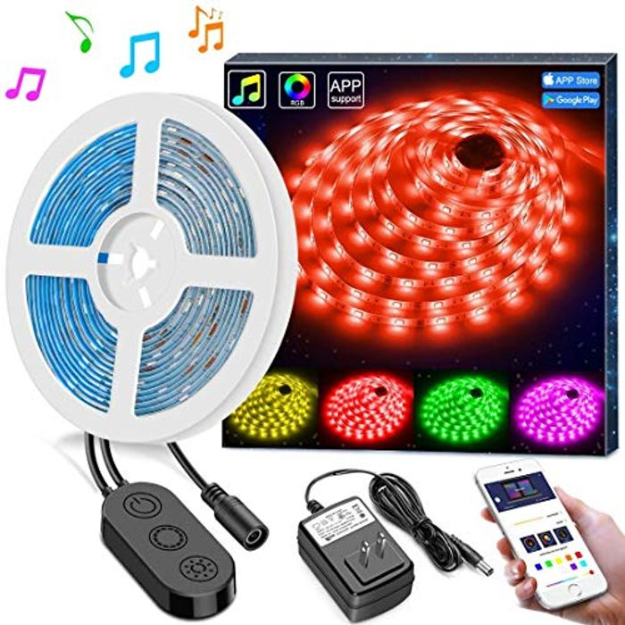 5M Sync to Music Waterproof RGB Rope Light with APP