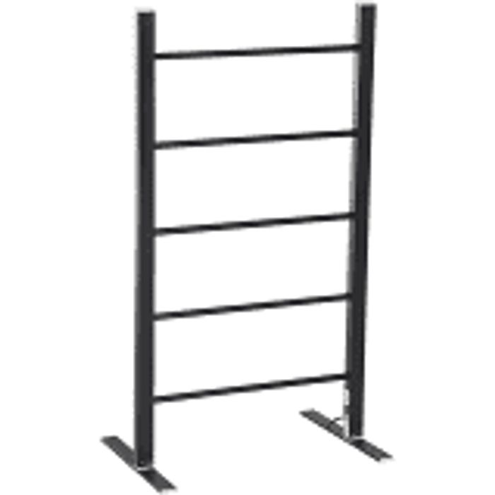 HOMCOM Electric Wall Mounted Towel Rail, Aluminium, 100W-Black