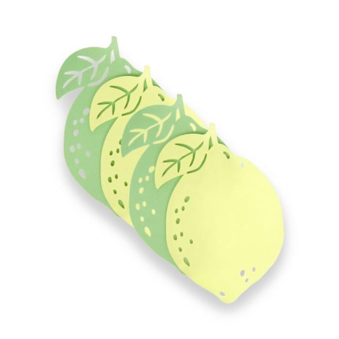 Luara Ashley Felt Lemon Coasters Set of 4 - HALF PRICE