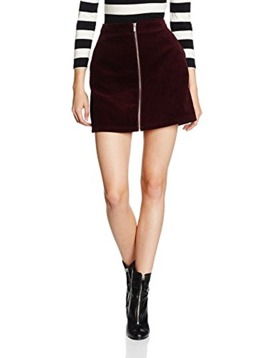 Amazon - New Look Burgundy Zip Skirt Size 14